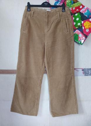 Вельветовые широкие штаны высокая талия