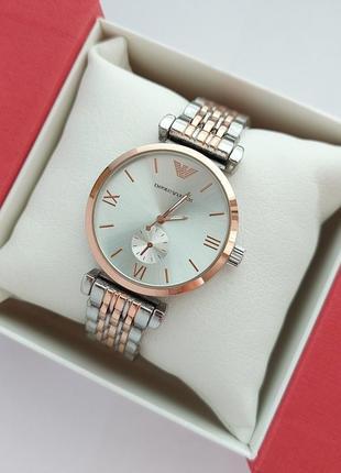 Наручные часы женские в серебре с розовым