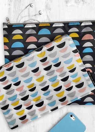 Комплект косметичек double (2 шт) разноцветные горбики (k2d_21m019_se)