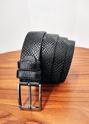 Ремень мужской турецкий кожаный питон