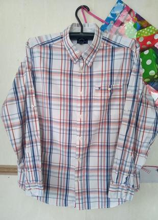 Натуральная рубашка в клетку wrangler p.xl