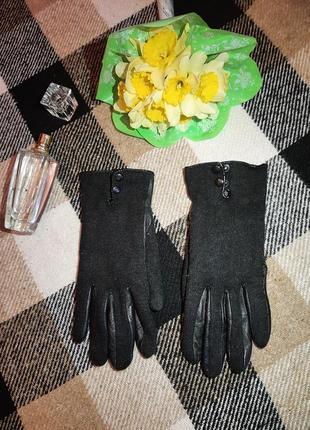 🎁🧤перчатки черные на кнопочках варежки женские