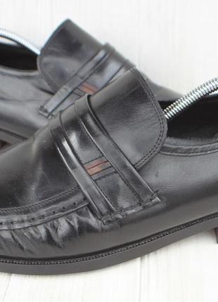 Лоферы clarks кожа англия 46р туфли мокасины