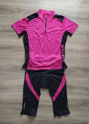 Вело костюм велокомплект велофутболка велошорты