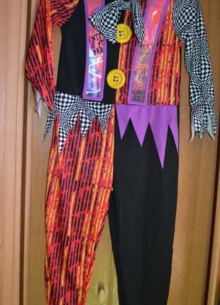 Карнавальный костюм клоун на 5-6 лет, костюм клоуна