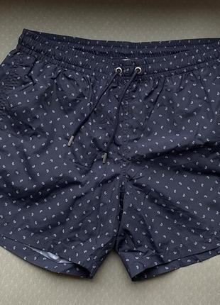 Пляжні шорти темно сині, чоловічі плавки.