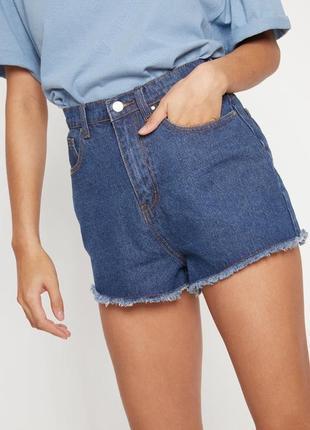 Синие джинсовые шорты shelby с высокой талией