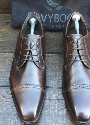 Navyboot. кожаные мужские. мужские туфли. броги. швейцария