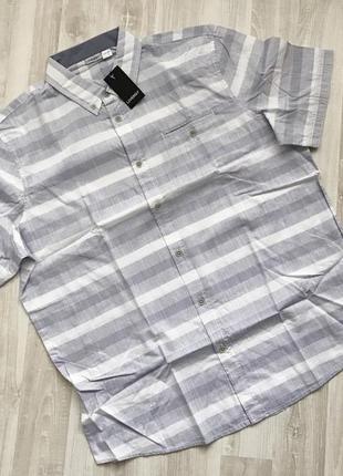Классная рубашка с коротким рукавом шведка повседневная livergy. хлопок.