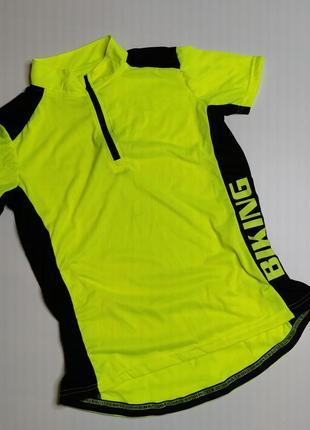 Яркая велосипедка футболка для велоспорта германия