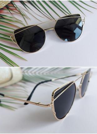 Солнцезащитные очки в черном цвете для девочки 7-12 лет