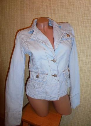 Джинсовый пиджак.джинсовый жакет.куртка.джинсовка clockhouse