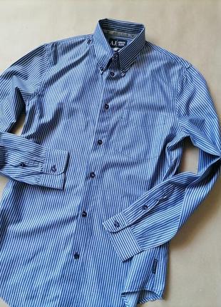 Armani jeans мужская брендовая рубашка размер м оригинал