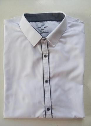Базовая белая рубашка с вставками f&f p.17