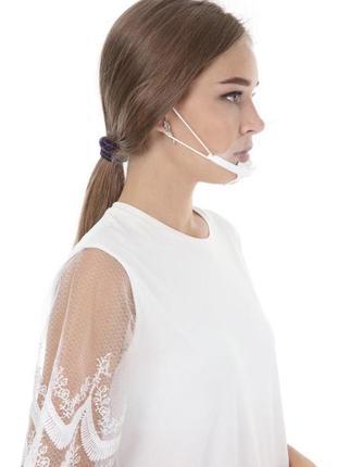 Прозрачная пластиковая маска защитная