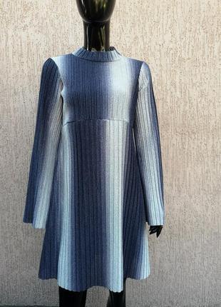 Невероятно красивое платье блестящее с люрексом asos