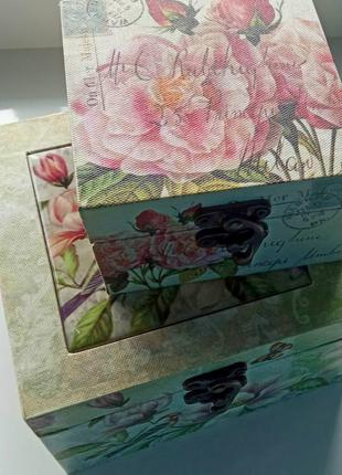 Скринька bona di 2 шт. для прикрас подарунків (шкатулка для украшений)