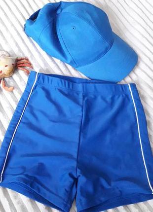 Класный пляжный набор (плавки и кепка)  для мальчика 5-6 лет.