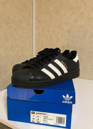 Adidas superstar черные оригинал, 25,5 см (39-40 размер)