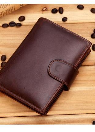Мужской кожаный кошелек. портмоне мужское. натуральная кожа ек38-1