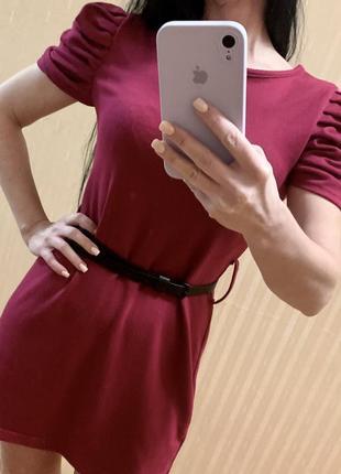 Платье короткое с поясом