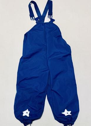 Полукомбинезон штаны  термоткань грязепруф дождевик kids by tchibo tcm (германия)