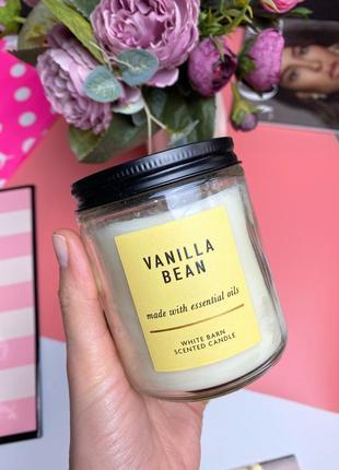 Ароматическая свеча на 1 фитель bath and body works vanilla bean