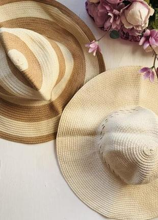 Шляпа плетёная соломенная