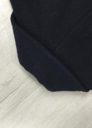 F9 пальто приталенное темное темно-синее шерстяное двубортное удлиненное merona