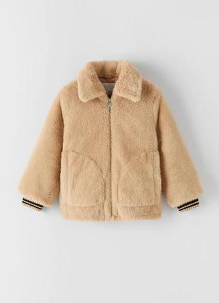 Шубка меховушка шуба куртка курточка для девочки оригинал  зара zara