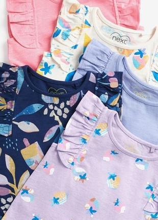 Костюм летний некст next комплект футболка шорты майка