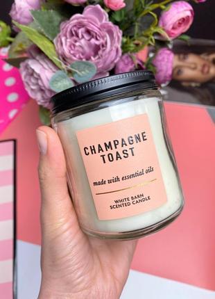 Ароматическая свеча на 1 фитель bath and body works champagne toast