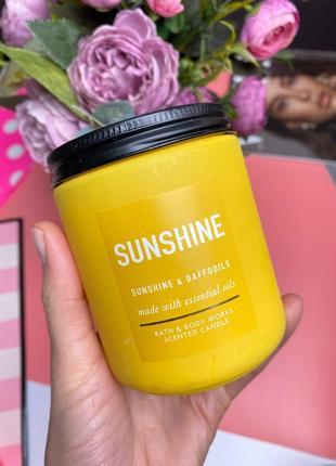 Ароматическая свеча на 1 фитель bath and body works sunshine