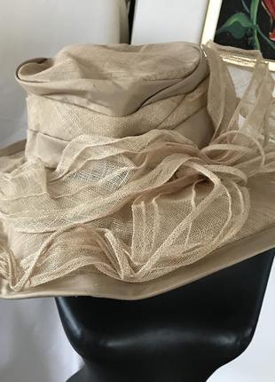Victoria ann шикарная шляпка соломенная лондон