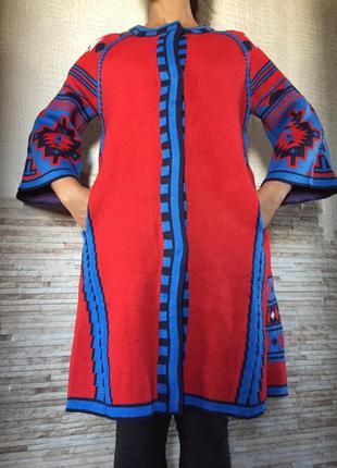 Шикарный вязаный кардиган длинный кофта на весну осень пальто