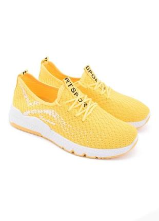 Женские желтые кроссовки,кеды, мокасины,кросівки,кеди,мокасини  на шнуровке