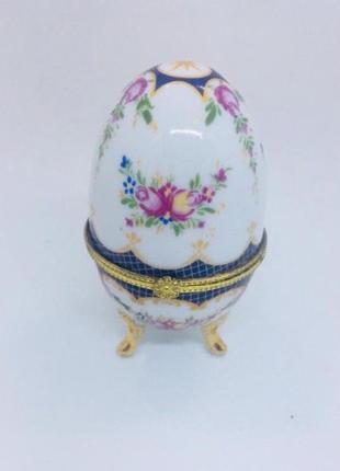 Яйцо фаберже италия фарфоровая шкатулка