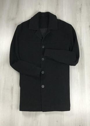 F9 пальто темно-серое темное однотонное удлиненное шерстяное tom englith