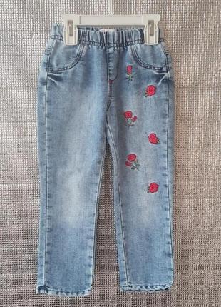 💖 тонкие джинсы для девочки