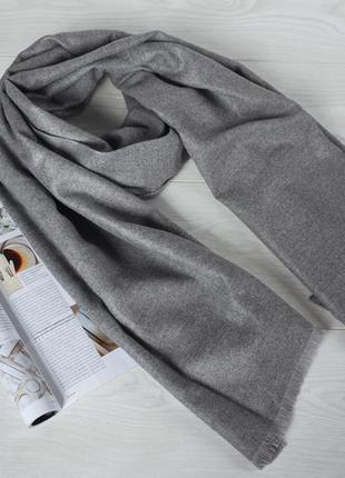 Женский шарф серый осень-зима