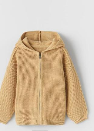 Кофта с капюшоном свитер zara