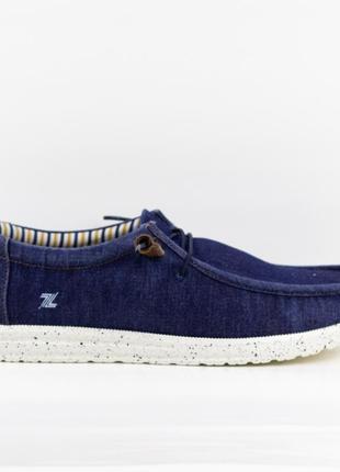 Мужские туфли, мокасины слипоны премиум ziano h006039р. 40-46р. синие