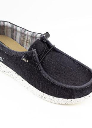 Мужские туфли, мокасины слипоны премиум ziano h006055р. 40-46р. черные