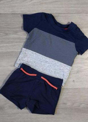 Комплект футболка шорты шорти primark, 62 0-3 месяца.