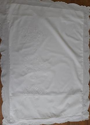 Наволочка с вышивкой ришелье винтаж