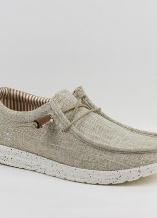 Мужские туфли, мокасины слипоны премиум ziano h006036р. 40-46р. бежевые