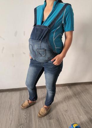 Джинсовый комбинезон для будущей мамы джинсы