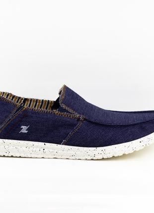 Мужские туфли, мокасины слипоны премиум ziano h006049р. 40-46р. темно-синие