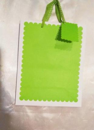 Пакет  бумажный  подарочной.