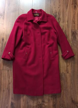 Шерстяное пальто миди
